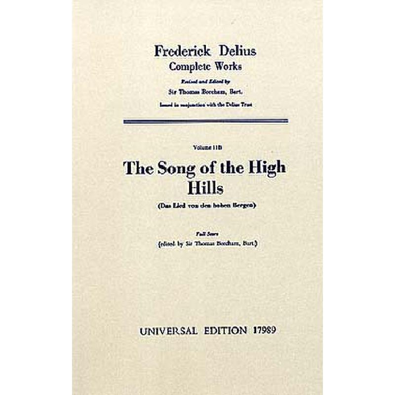 Titelbild für UE 17989 - THE SONG OF THE HIGH HILLS