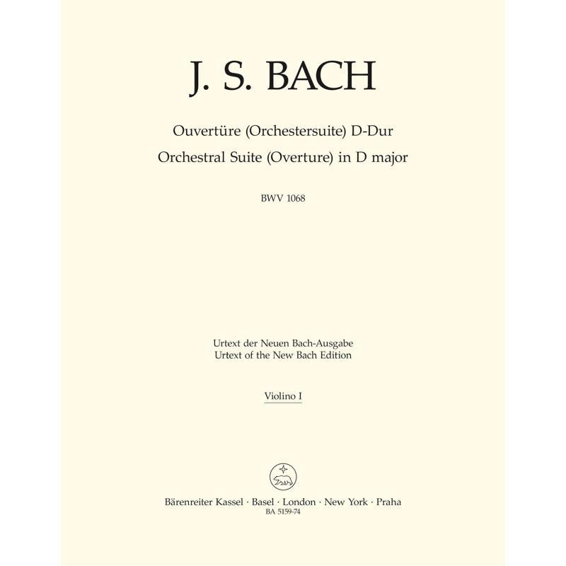Titelbild für BA 5254-74 - Ouvertüre (Orchestersuite) 3 D-Dur BWV 1068