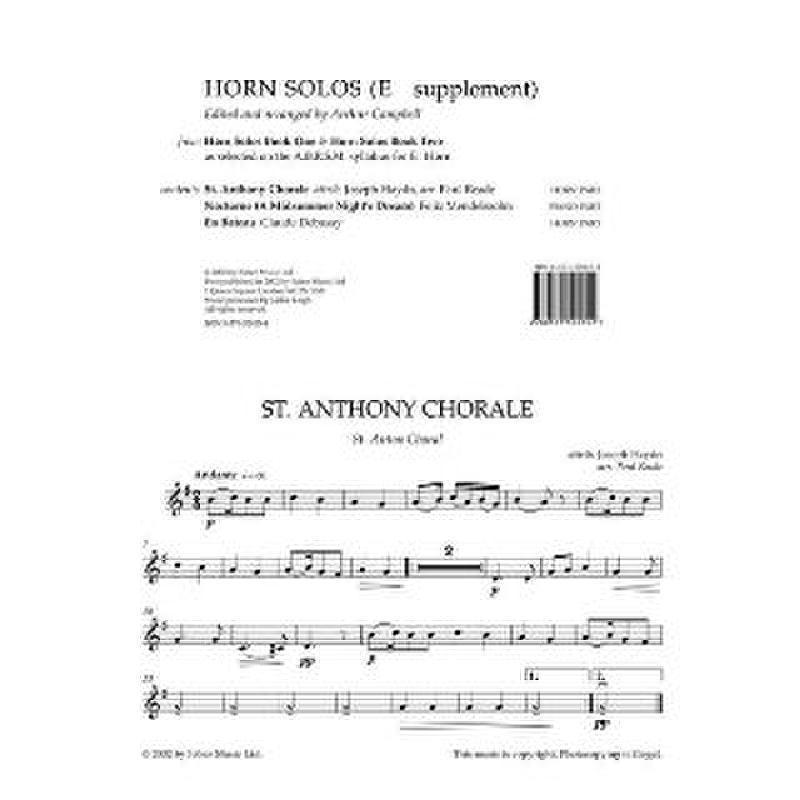Titelbild für ISBN 0-571-52015-4 - HORN SOLOS 1 + 2