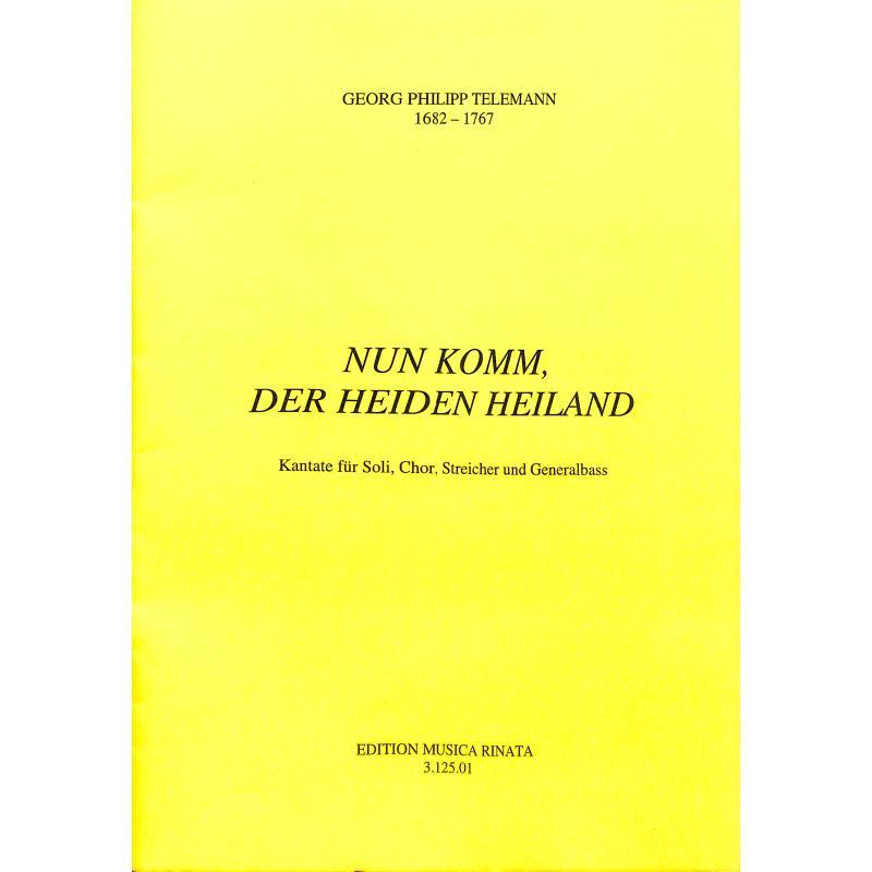 Titelbild für RINATA 3125-01 - NUN KOMM DER HEIDEN HEILAND