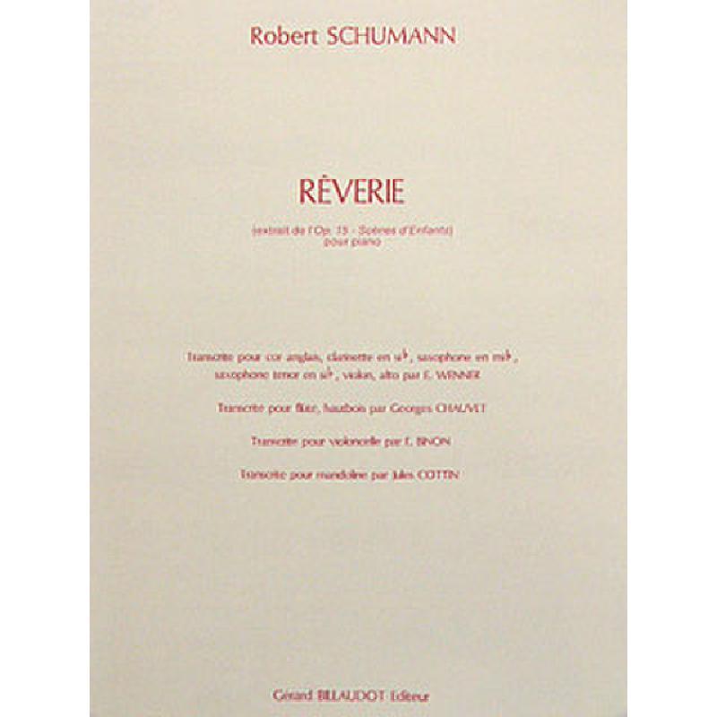 Titelbild für COST 19410R - TRAEUMEREI OP 15/7 (REVERIE KIN