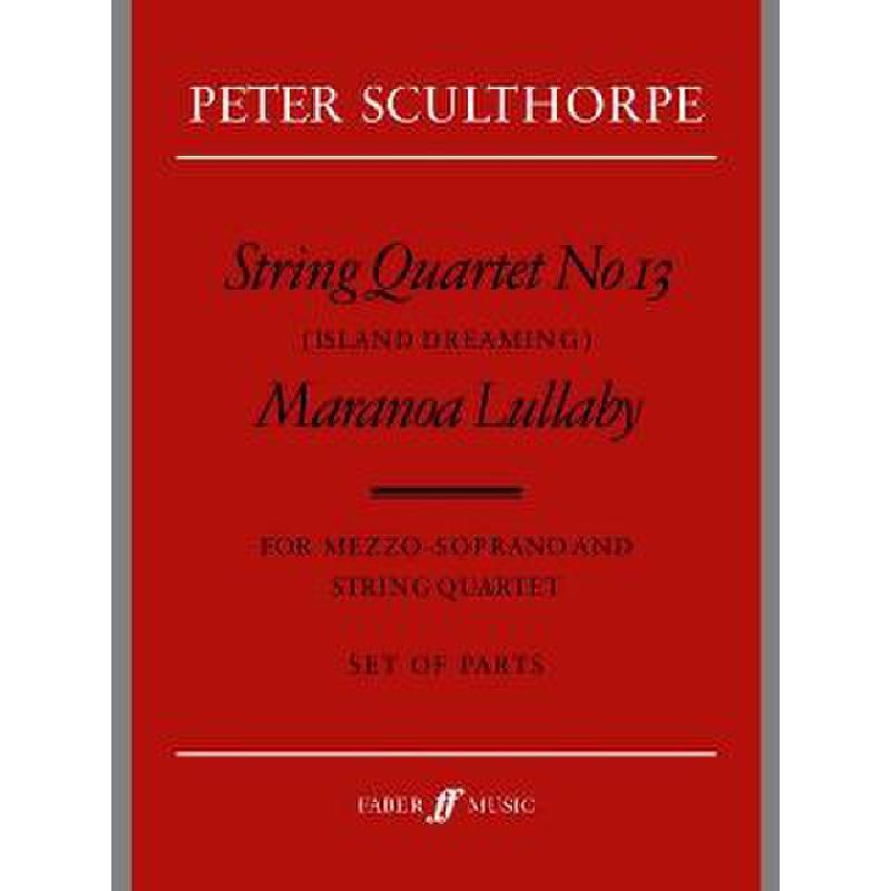 Titelbild für ISBN 0-571-52028-6 - STRING QUARTET 13