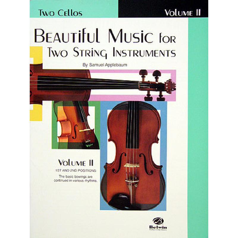 Produktinformationen zu BEAUTIFUL MUSIC FOR 2 STRING INSTRUMENTS 2 EL 02213
