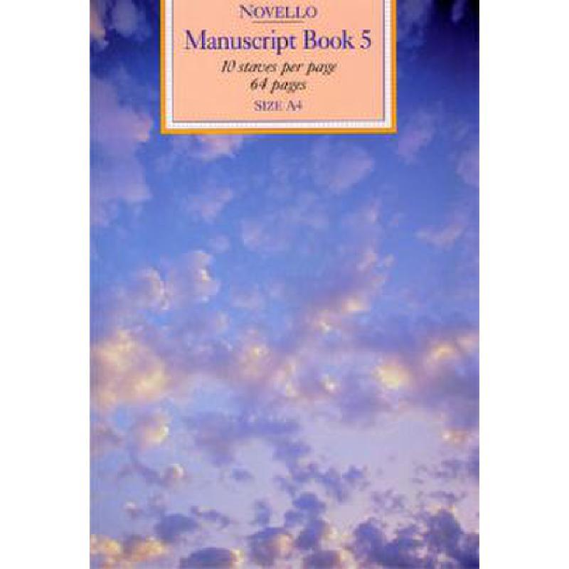 Titelbild für MSNOV 635005 - MANUSCRIPT BOOK 5
