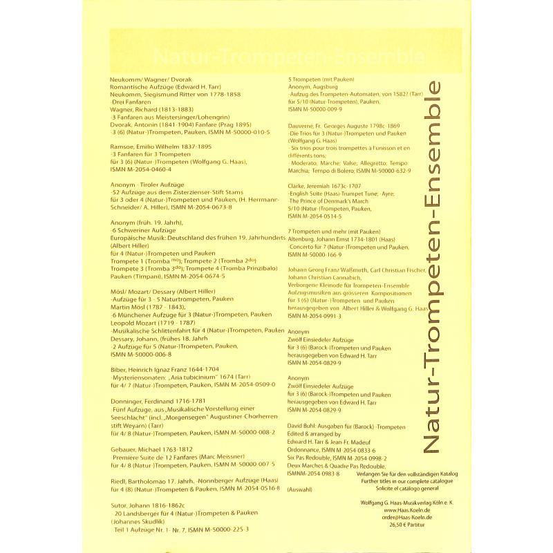 Notenbild für HAAS 0829-9 - 12 EINSIEDELER AUFZUEGE
