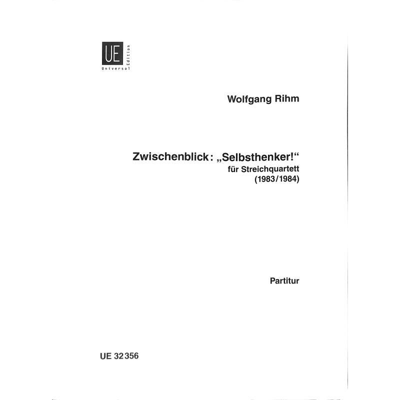 Titelbild für UE 32356 - ZWISCHENBLICK SELBSTHENKER