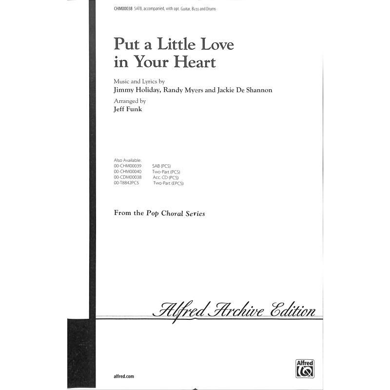 Titelbild für CHM 00038 - PUT A LITTLE LOVE IN YOUR HEART