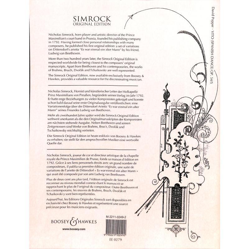 Notenbild für EE 0279 - VITA (SPANISCHE TAENZE OP 54/5)