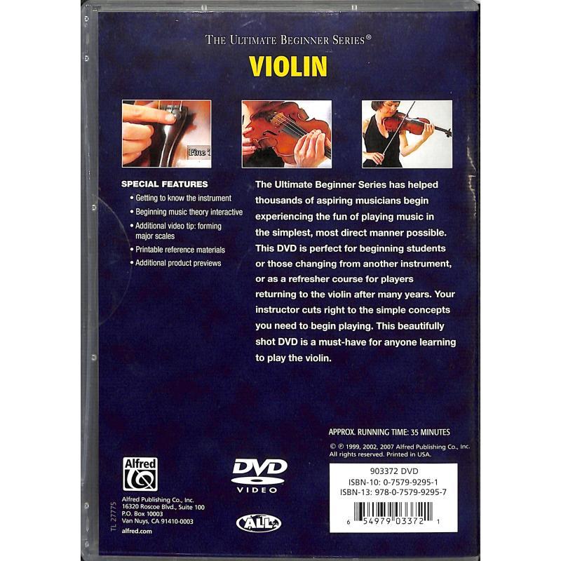 Notenbild für DVD 903372 - VIOLIN - ULTIMATE BEGINNER SERIES