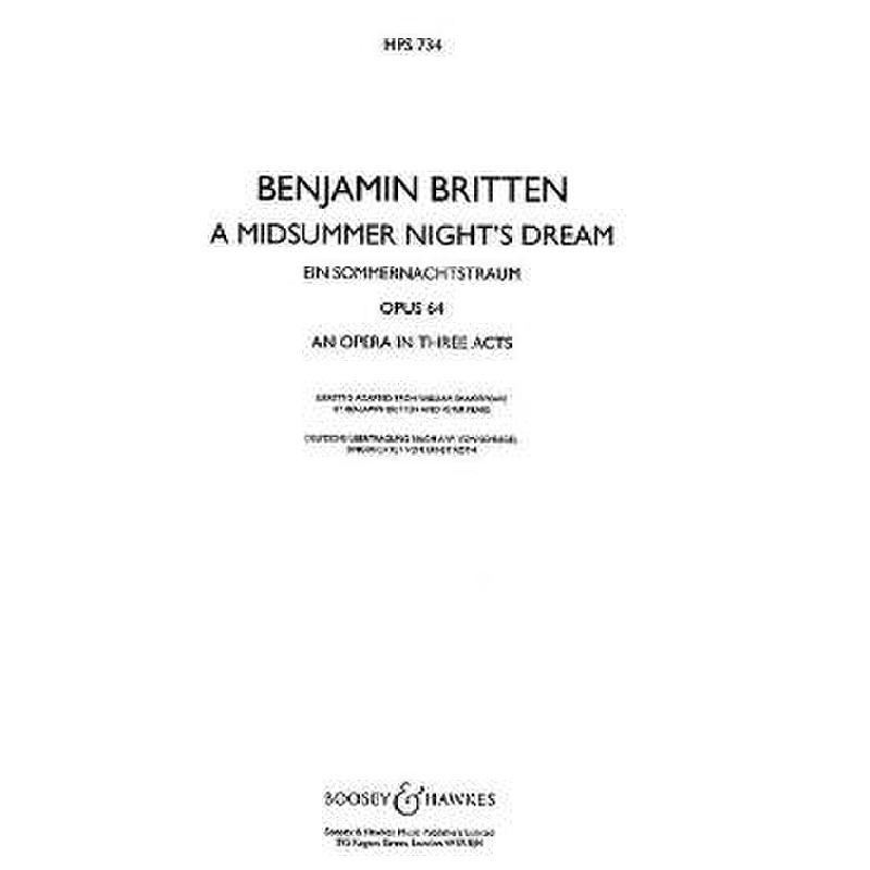 Titelbild für BH 6500089 - A MIDSUMMER NIGHT'S DREAM OP 64