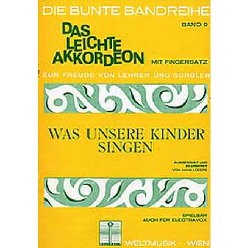 Titelbild für WM 1533 - WAS UNSERE KINDER SINGEN