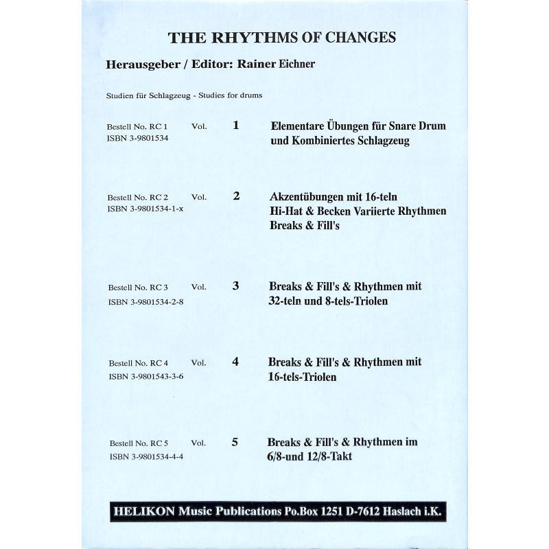 Notenbild für HELIKON -RC5 - RHYTHMS OF CHANGES 5