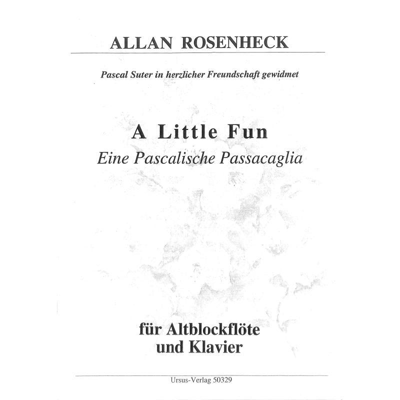 Titelbild für URSUS 50329 - A LITTLE FUN - EINE PASCALISCHE PASSACAGLIA