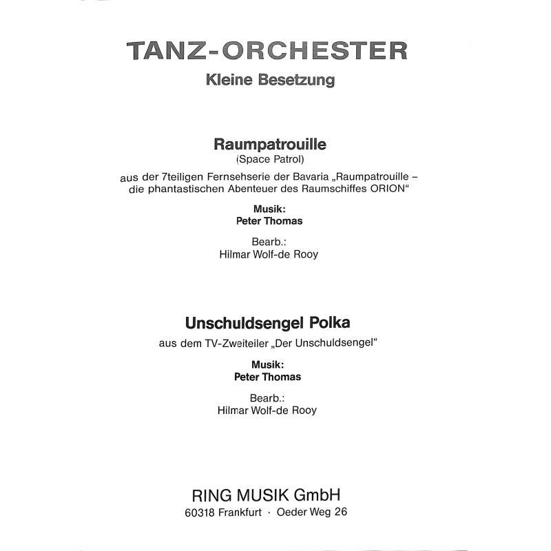 Titelbild für WEINB 928-41 - RAUMPATROUILLE ORION + UNSCHULDSENGEL POLKA