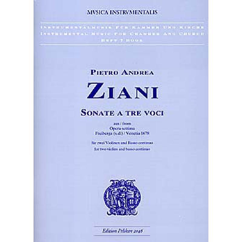 Titelbild für PE 2046 - SONATE A TRE VOCI (OPERA SETTIMA 7)