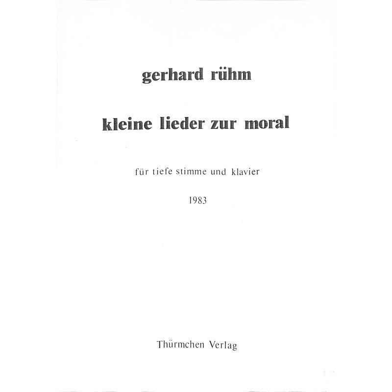 Titelbild für THUERMCHEN 19-0 - KLEINE LIEDER ZUR MORAL