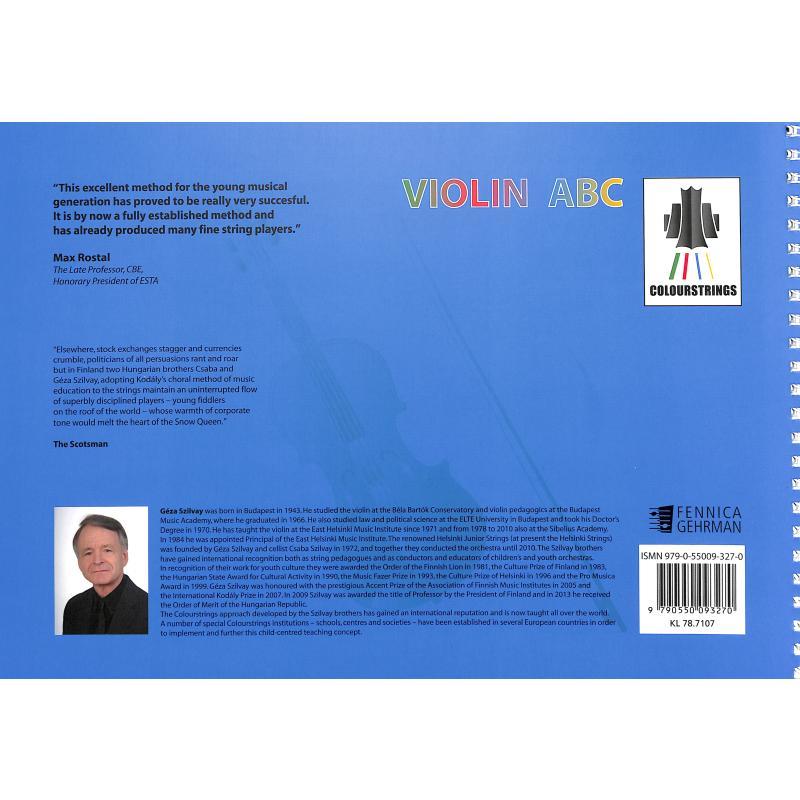 Notenbild für FENNICA 327-0 - Colourstrings Violin ABC Book C