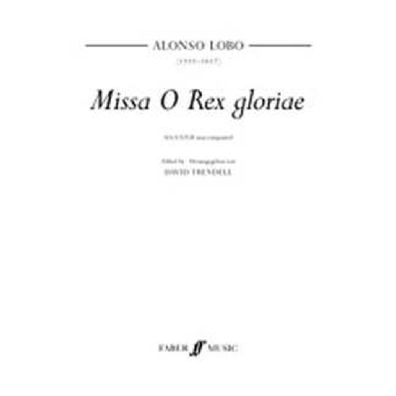 Titelbild für ISBN 0-571-52062-6 - MISSA O REX GLORIAE