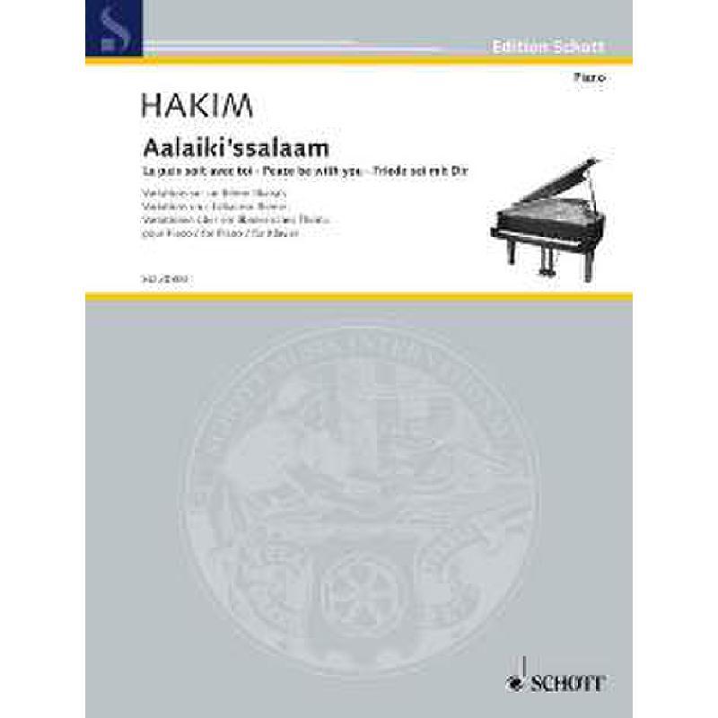 Titelbild für ED 20800 - AALAIKI'SSALAAM - FRIEDE SEI MIT DIR