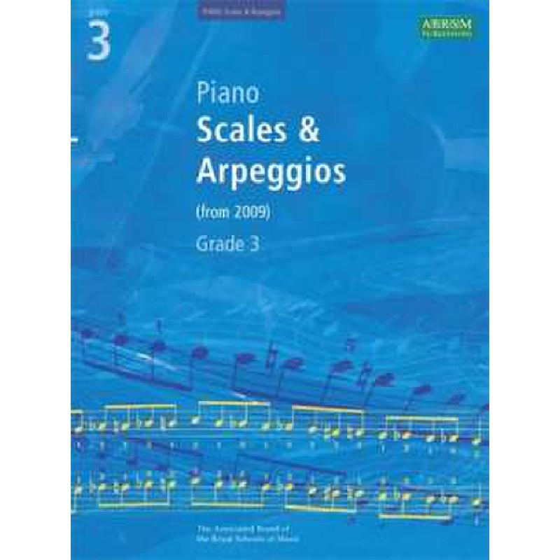 Titelbild für ABRSM 8157 - SCALES + ARPEGGIOS 3 FOR EXAMS