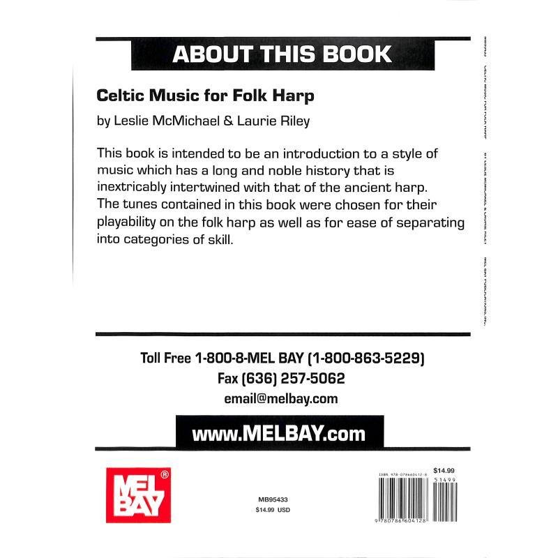 Produktinformationen zu CELTIC MUSIC FOR FOLK HARP MB 95433
