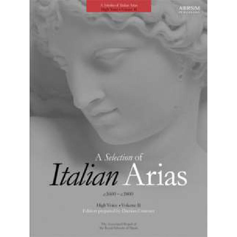 Titelbild für 978-1-86096-100-7 - A selection of italian arias 2