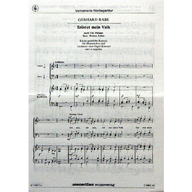 Titelbild für CONCERTINO -C1 - TROESTET MEIN VOLK