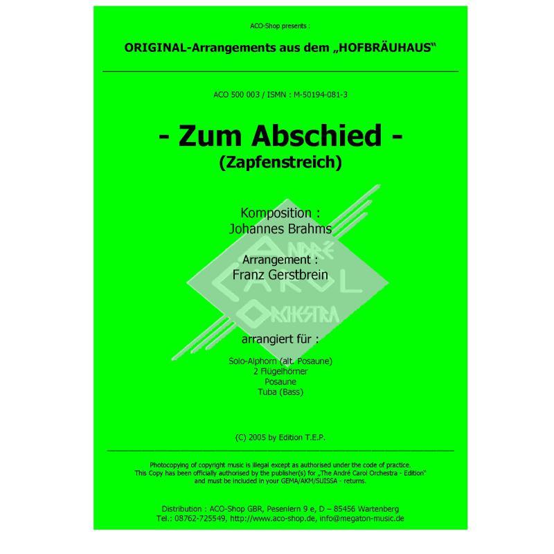 Titelbild für ACO 500003 - ZUM ABSCHIED (ZAPFENSTREICH)