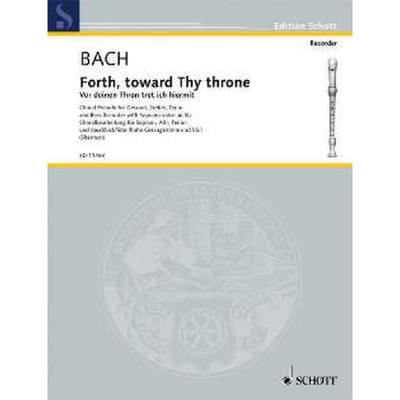 Titelbild für ED 11493 - VOR DEINEN THRON BWV 668