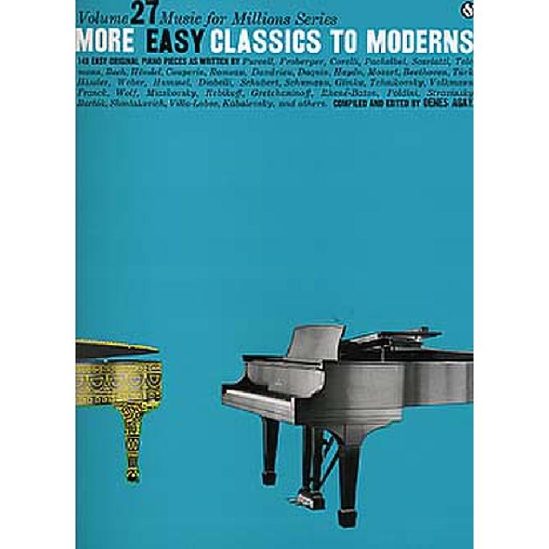Titelbild für MSAM 41542 - MORE EASY CLASSICS TO MODERNS
