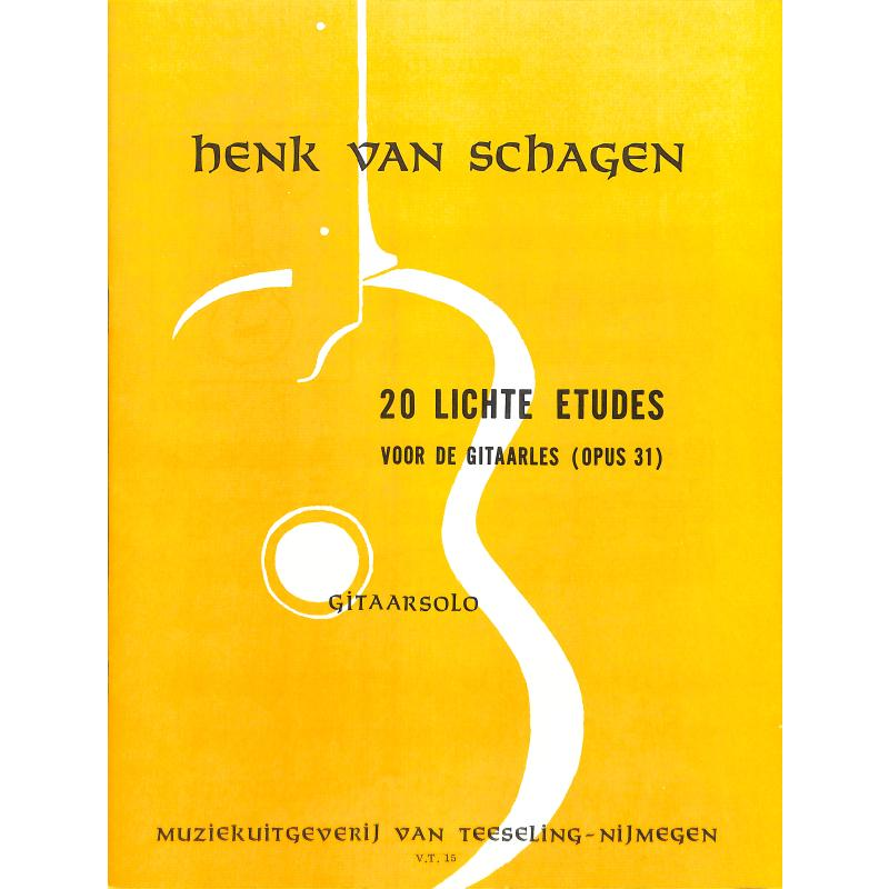 Titelbild für VT 15 - 20 LICHTE ETUDES VOOR DE GITAARLES OP 31