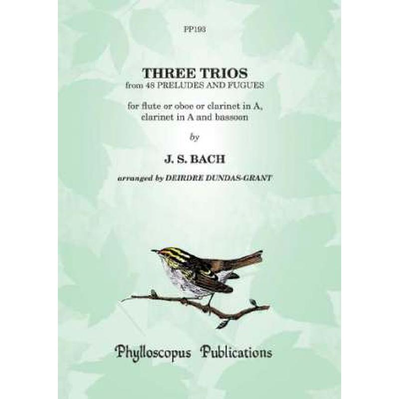 Titelbild für PHYLL -PP193 - 3 TRIOS (48 PRELUDES + FUGUES)