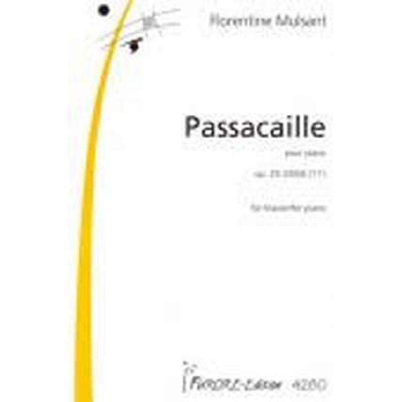 Titelbild für FUE 4280 - PASSACAILLE OP 29