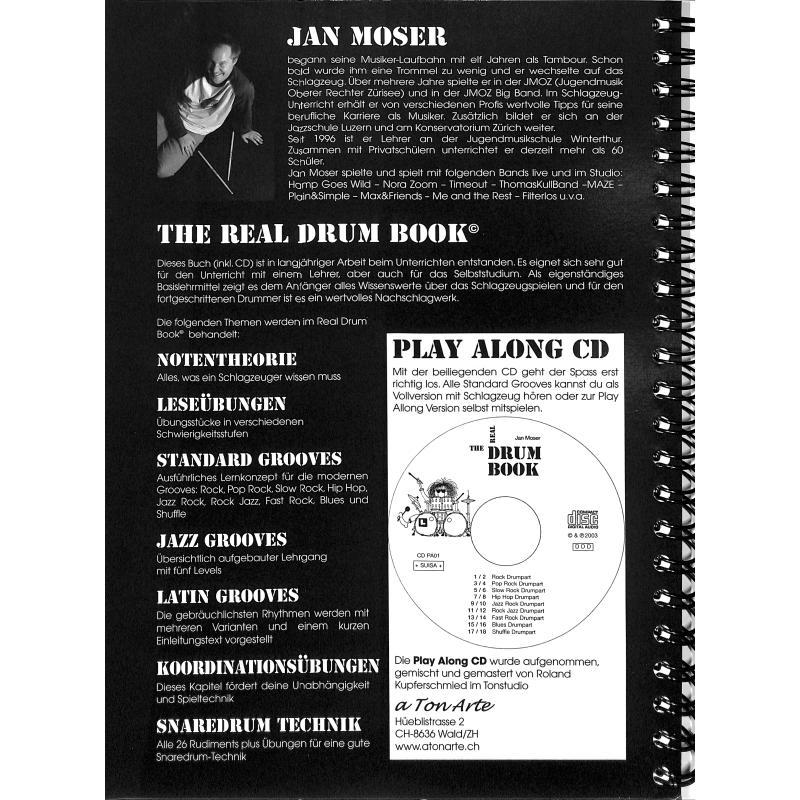 Notenbild für HEBU 48830 - THE REAL DRUM BOOK
