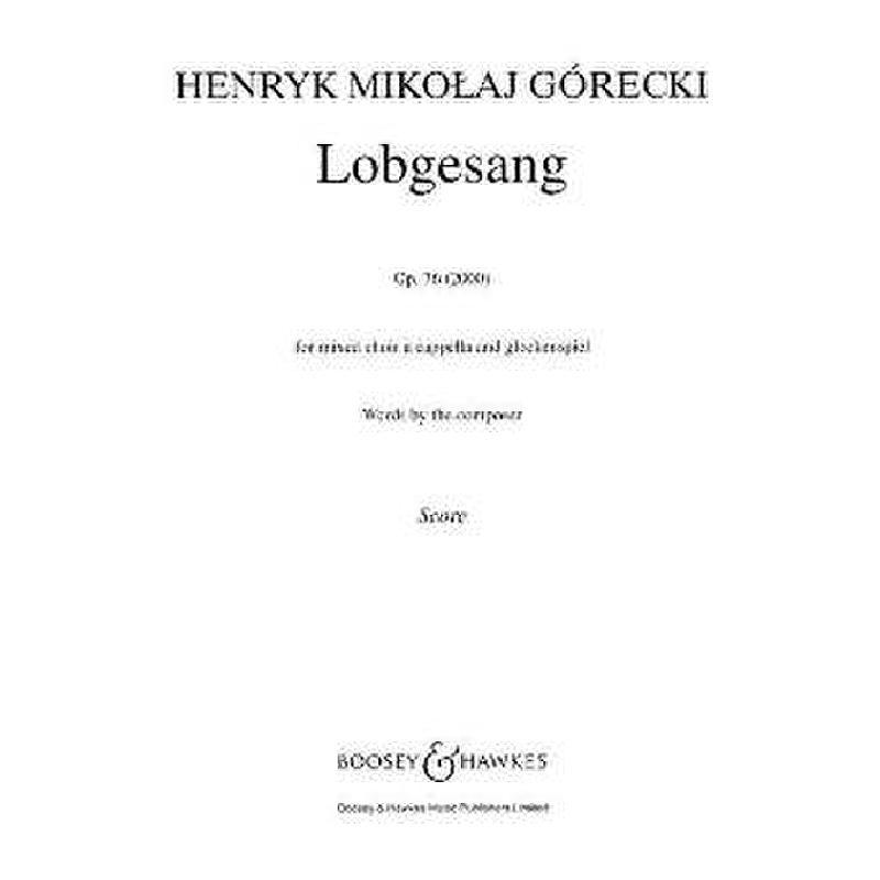 Titelbild für BH 5402226 - LOBGESANG OP 76 (2000)