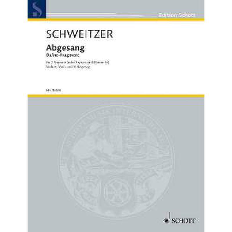 Titelbild für ED 20028 - ABGESANG (DAFNE FRAGMENT)