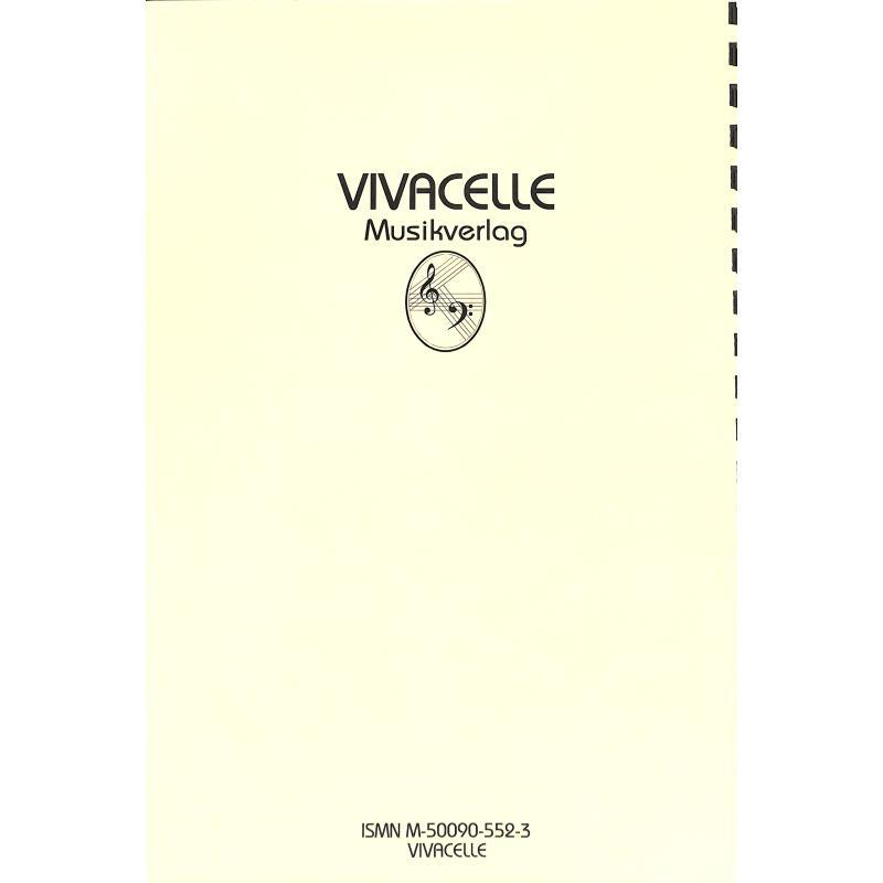 Notenbild für VIVACELLE 552 - DER TAG IST DA 3 - LIEDERPOTPOURRI