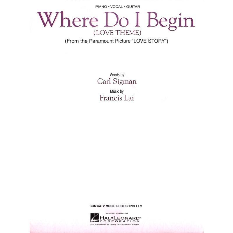 Titelbild für HL 353201 - WHERE DO I BEGIN (LOVE STORY THEME)