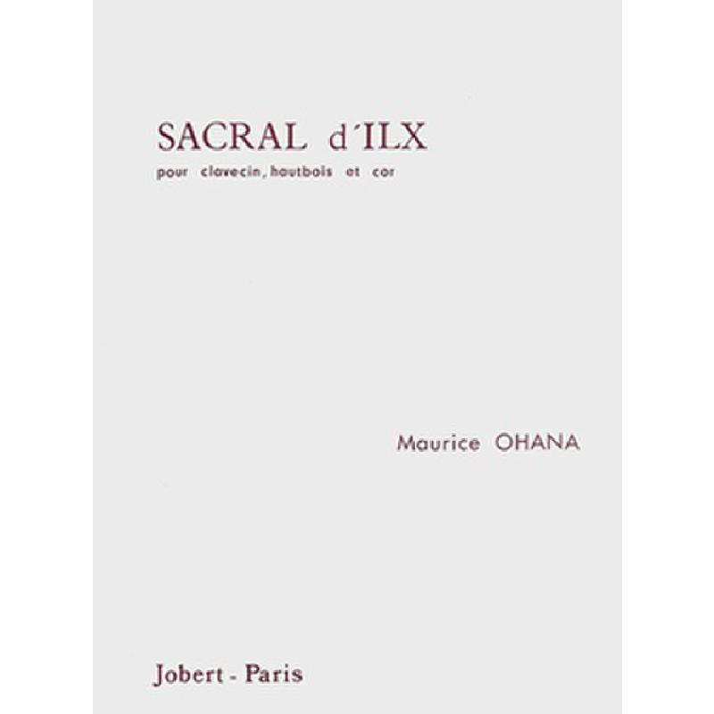 Titelbild für JOBERT 9894 - SACRAL D'ILX