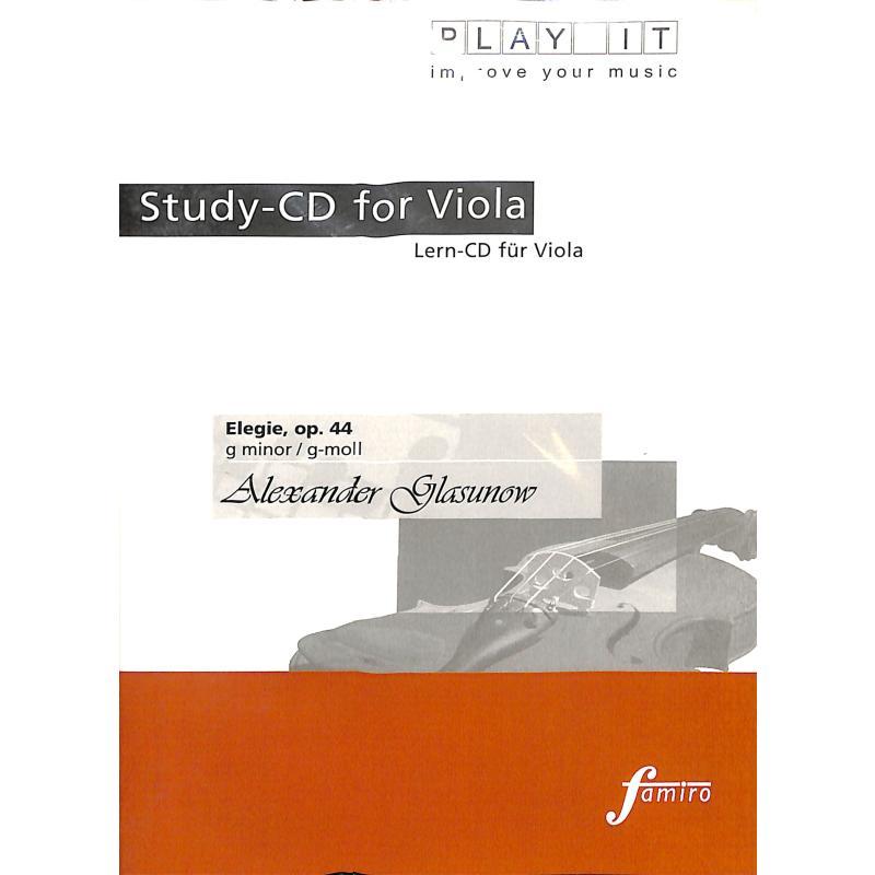 Titelbild für FMP 11103 - ELEGIE G-MOLL OP 44 - VA KLAV