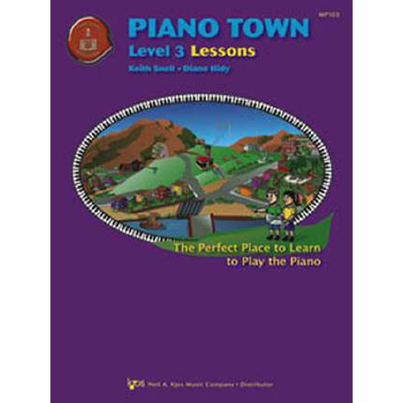 Titelbild für KJOS -MP103 - PIANO TOWN LEVEL 3 - LESSONS