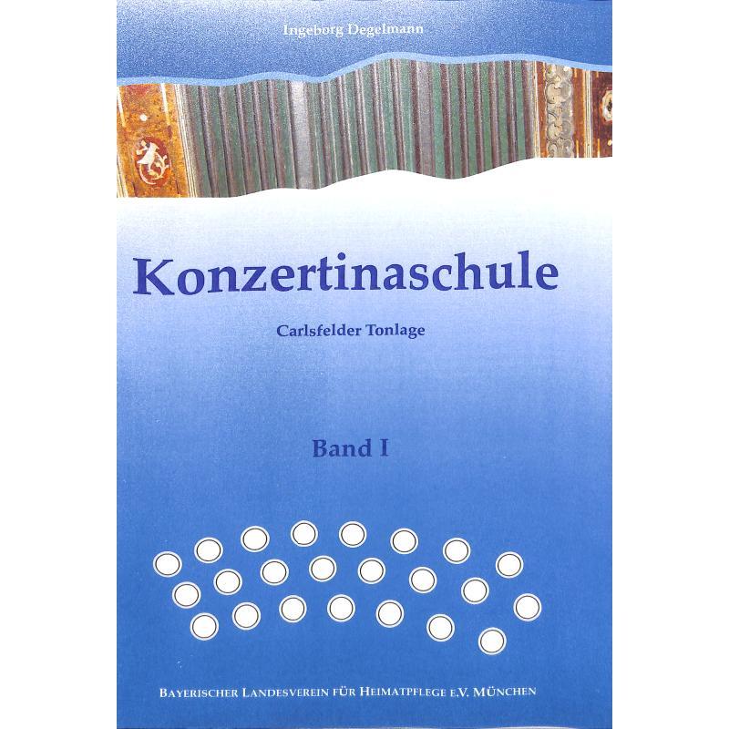 Titelbild für LV -B24 - KONZERTINASCHULE - CARLSFELDER TONLAGE BD 1
