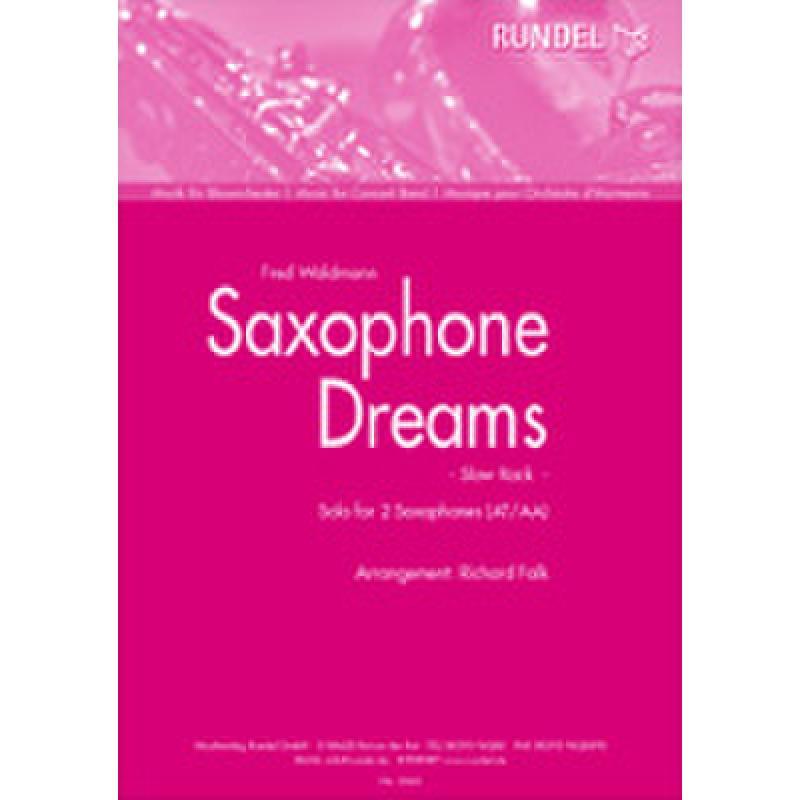 Titelbild für RUNDEL 2262-TSAXT - SAXOPHONE DREAMS