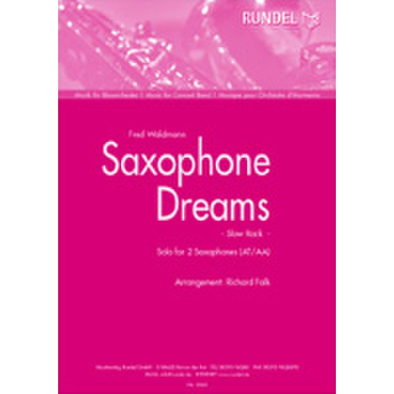 Titelbild für RUNDEL 2262-HRN1 - SAXOPHONE DREAMS
