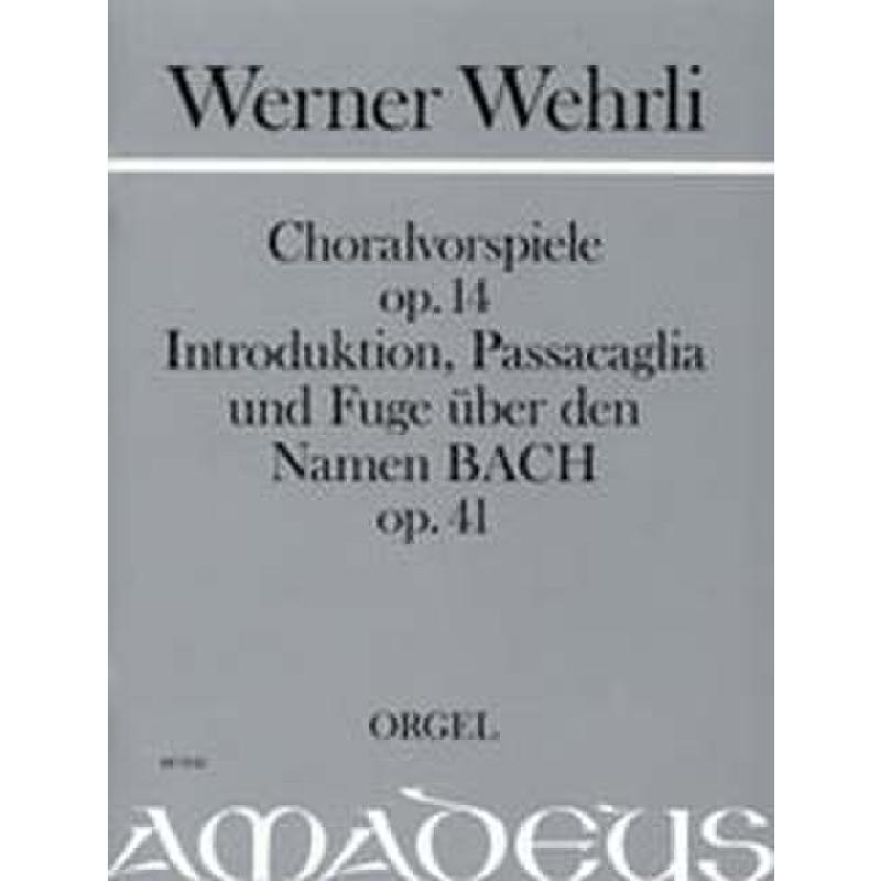 Titelbild für BP 1542 - CHORALVORSPIELE OP 14