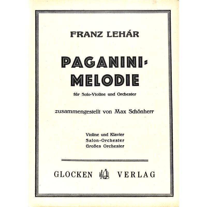 Titelbild für WEINB 667-20 - PAGANINI MELODIE