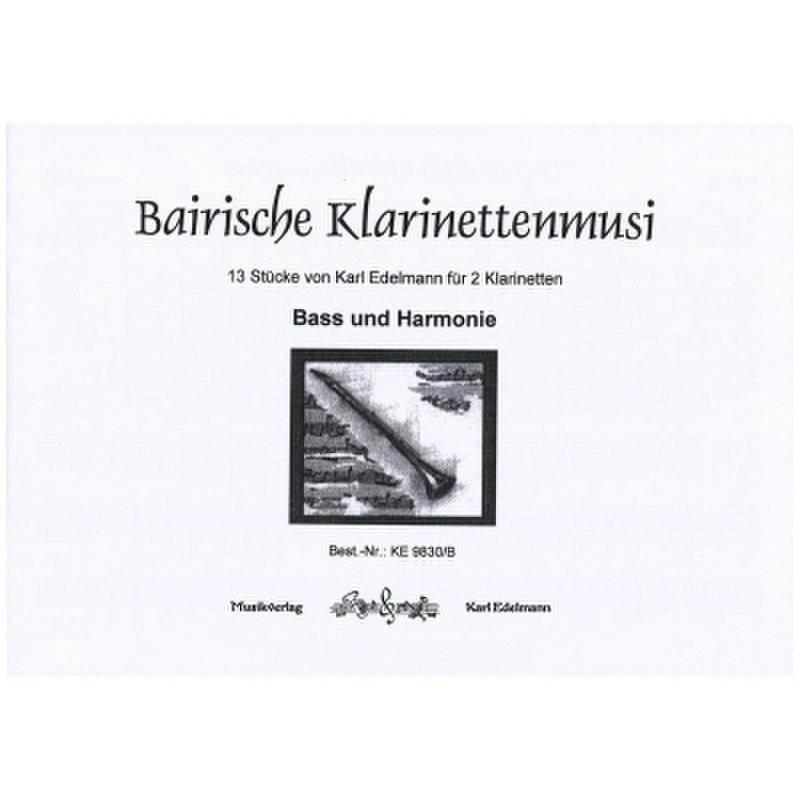 Titelbild für EDELMANN 9830-B - BAIRISCHE KLARINETTENMUSI
