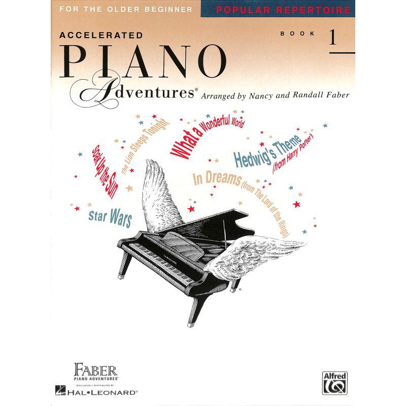 Titelbild für FJH 1470 - ACCELERATED PIANO ADVENTURES 1 - POPULAR REPERTOIRE BOOK 1