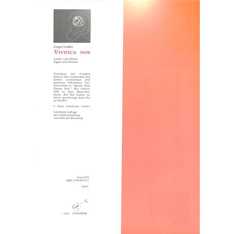 Notenbild für ISBN 3-932394-17-8 - VIVIFICA NOS
