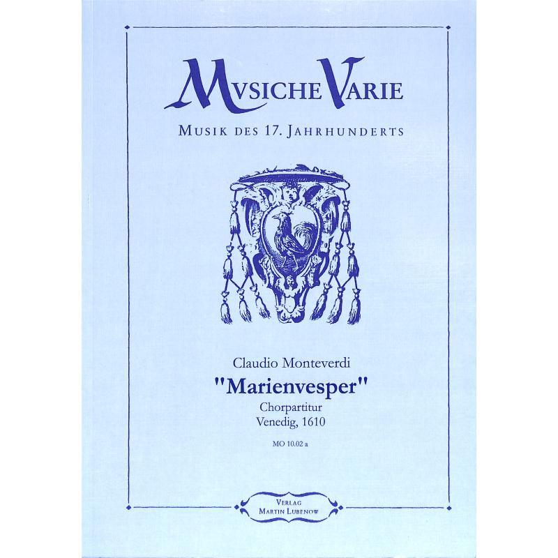 Titelbild für VARIE -MO-1001A - VESPRO DELLA BEATA VERGINE - MARIENVESPER
